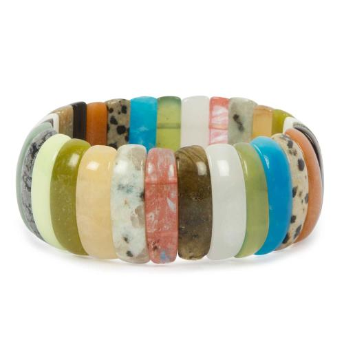 Satyamani Natural Healing Multi Crystal Cabochon Bracelet For Intentional Power