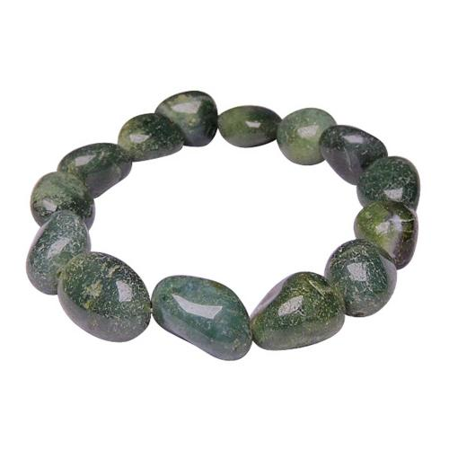Satyamani Natural Moss Agate Tumble Bracelet For Boosts the Immune System & Balancing Energy