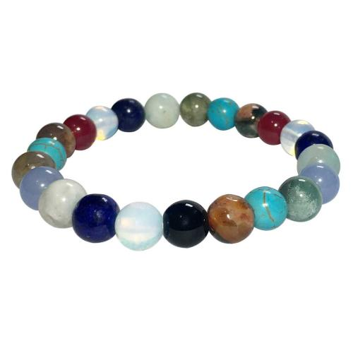 Satyamani Natural Multi Crystal Beads Bracelet