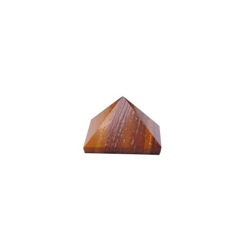 Satyamani Natural Tiger Eye Pyramid 10 mm.