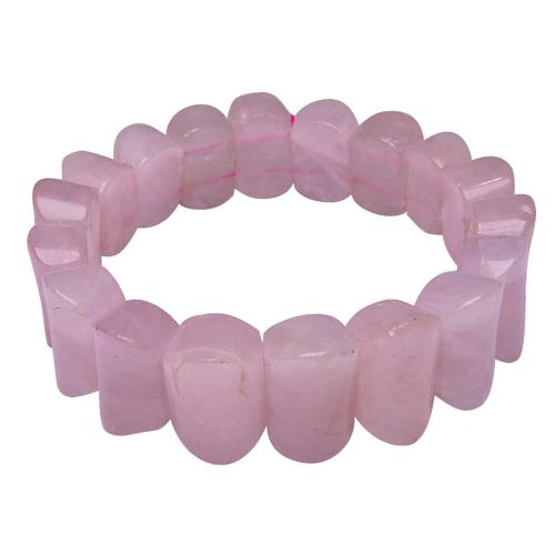 Satyamani Rose Quartz Oval Broad Bracelet