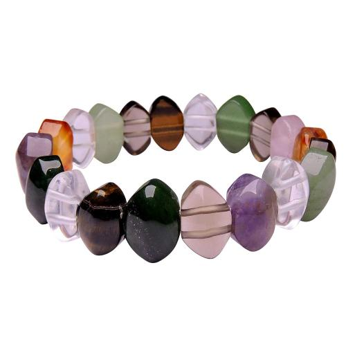 Satyamani Seven Chakra Thin Oval Bracelet (Pack of 1Pc)