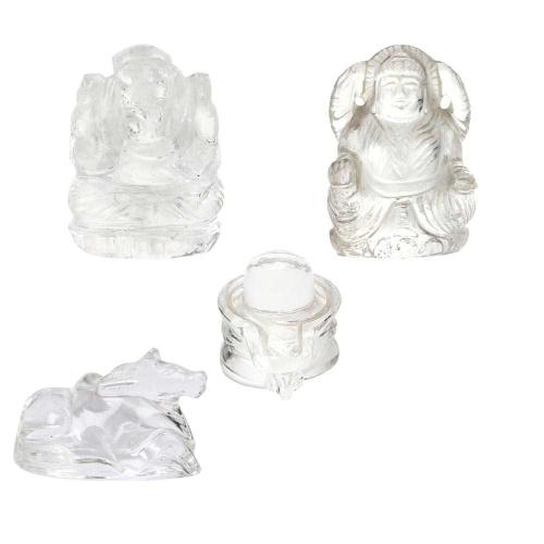 Satyamani Shiv Parivar in Natural Clear Quartz