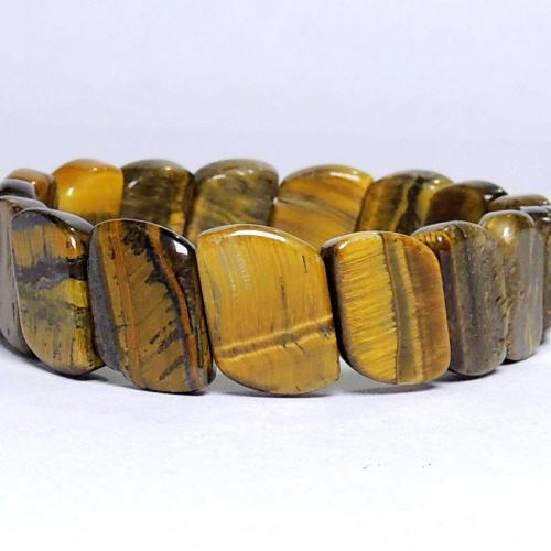 Satyamani Tiger Eye Wave Bracelet (Pack of 1Pc)